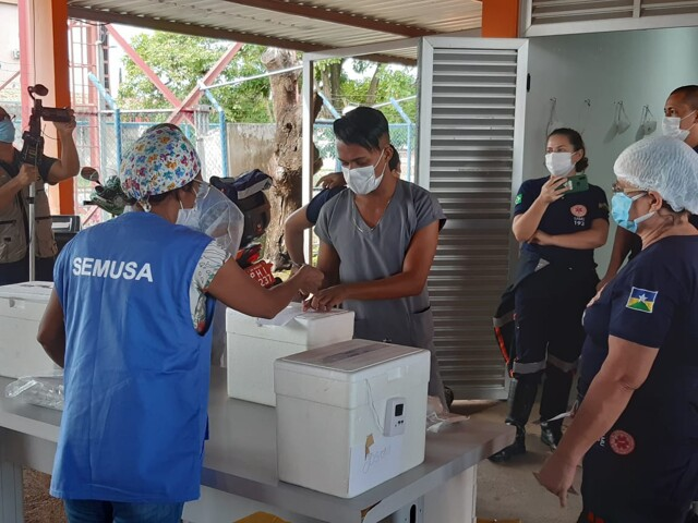 Quase dois mil profissionais da saúde já tomaram segunda dose da Coronavac em Porto Velho