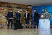 Deputado Alex Silva entrega instrumentos musicais para o combo da banda da PM