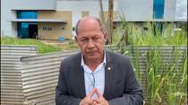 Coronel Chrisóstomo fiscaliza obras do Hospital Regional de Guajará-Mirim e pede a conclusão rápida das obras ao governo estadual