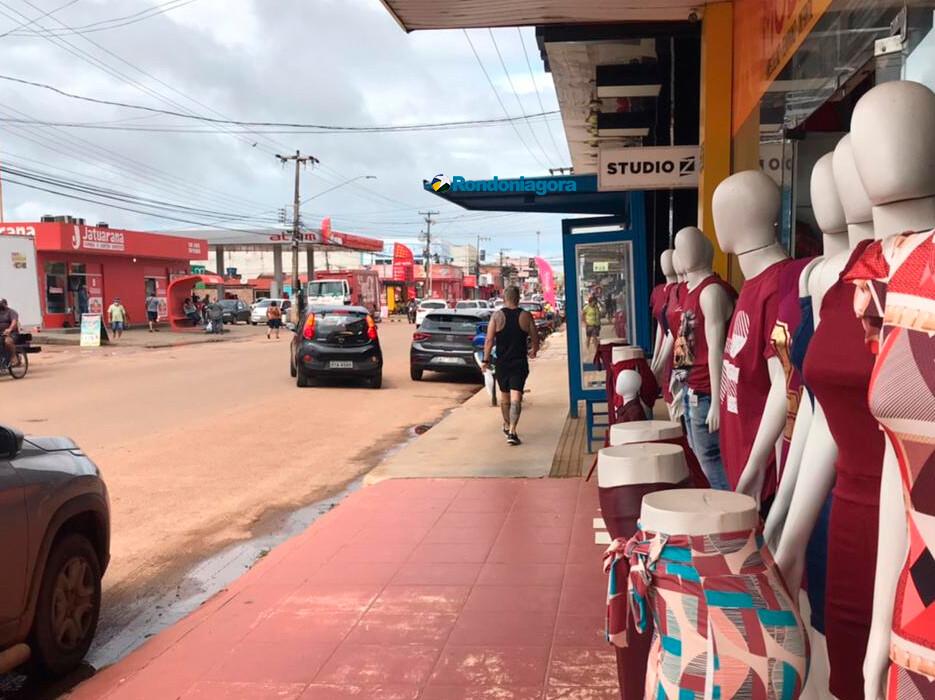 Maior parte do comércio abre no primeiro dia de restrições mais rígidas em Porto Velho