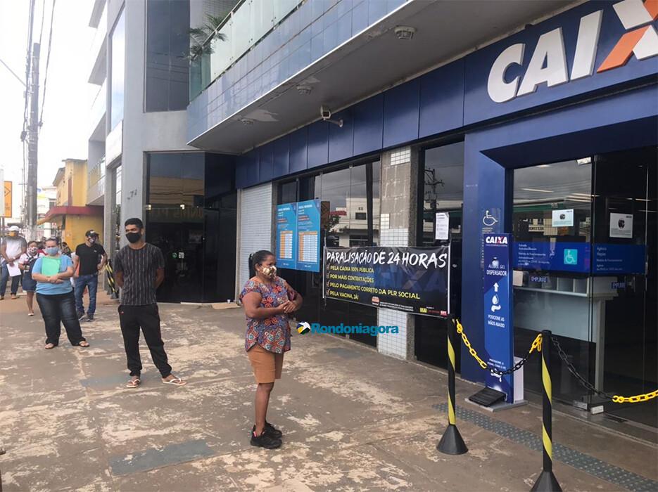 Adesão à greve na Caixa é baixa em Rondônia