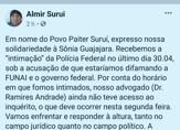 """Líder indígena Almir Suruí vai a PF e confirma inquérito por calúnia e """"fake news"""""""