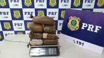 PRF prende jovem com 8 quilos de maconha