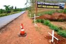 Mais uma vítima da curva da morte: motociclista perde controle e sofre acidente