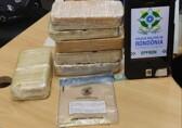 Traficante é preso com 6 quilos de cocaína enrolados ao corpo