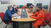 Ismael Crispin e prefeito de Alta Floresta discutem com comandante do Corpo de Bombeiros implantação de um grupamento no município