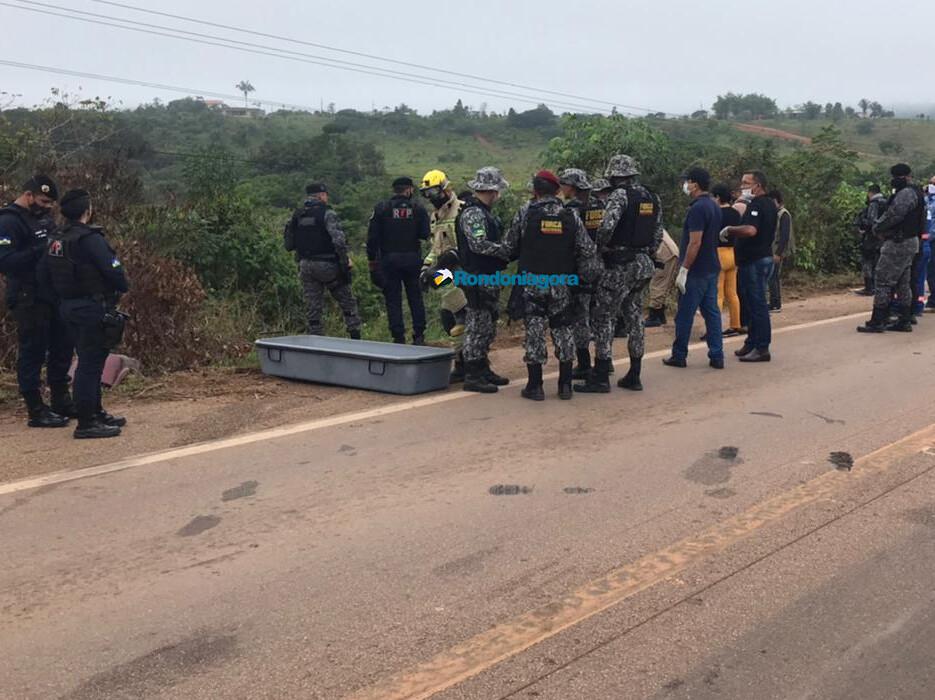 Vídeo e fotos: acidente envolvendo viatura da Força Nacional de Segurança deixa um morto na BR-364