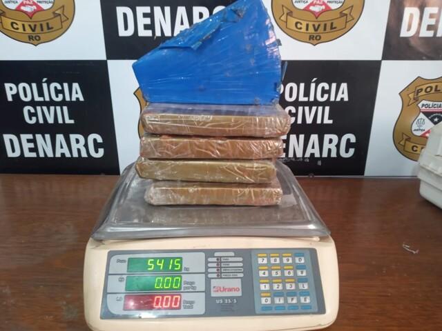 Perigoso traficante é preso com mais de 5 quilos de drogas