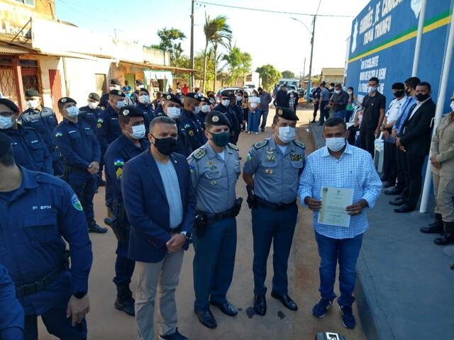 Deputado Alex Silva participa de inauguração da nova sede da PM de Candeias do Jamari
