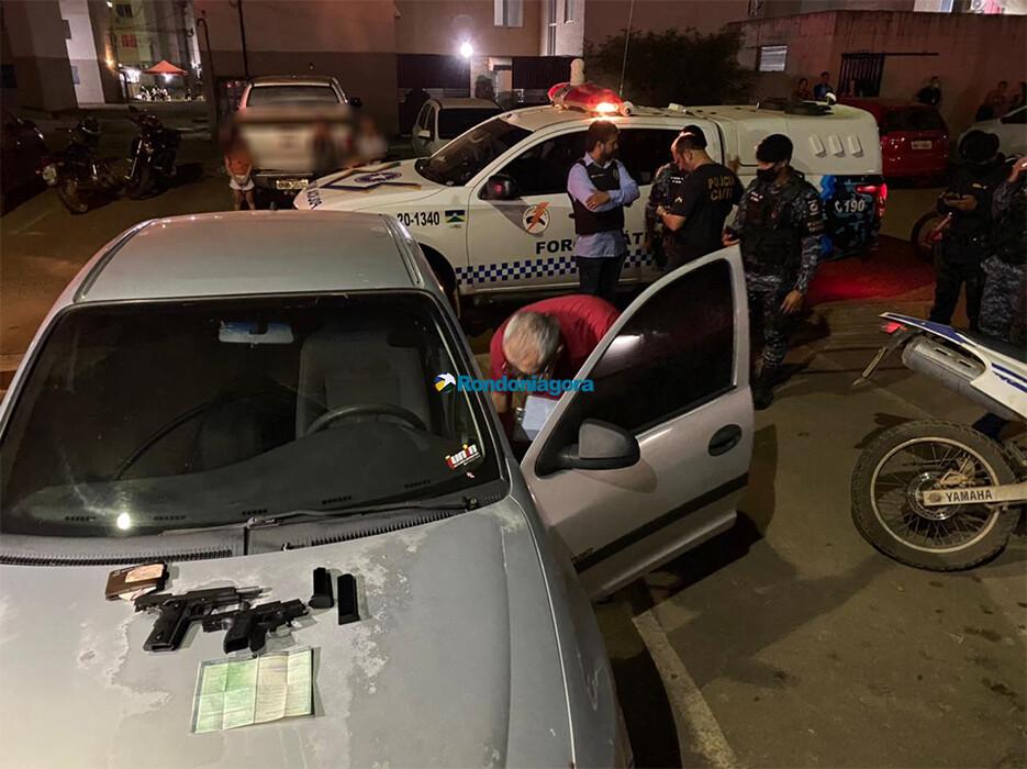 Polícia detém suspeitos após assassinato de jovem na zona leste; armas foram apreendidas