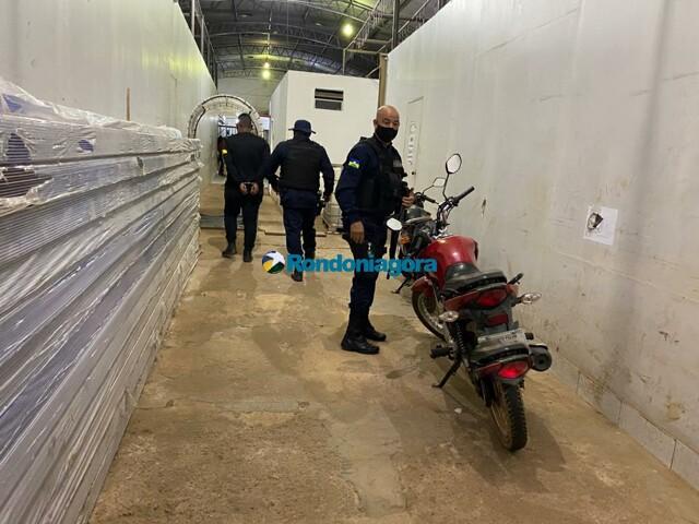 Motoboy é flagrado com moto furtada em Porto Velho