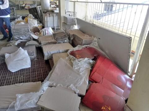 Ação de órgãos de fiscalização interdita panificadora no centro de Porto Velho; fotos