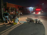 Acidente entre motos deixa três feridos na Zona Leste