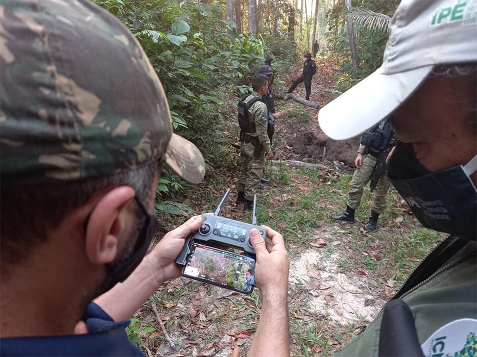 Ação das policias Federal, Civil e ICMbio apreende material usado para derrubada em reserva