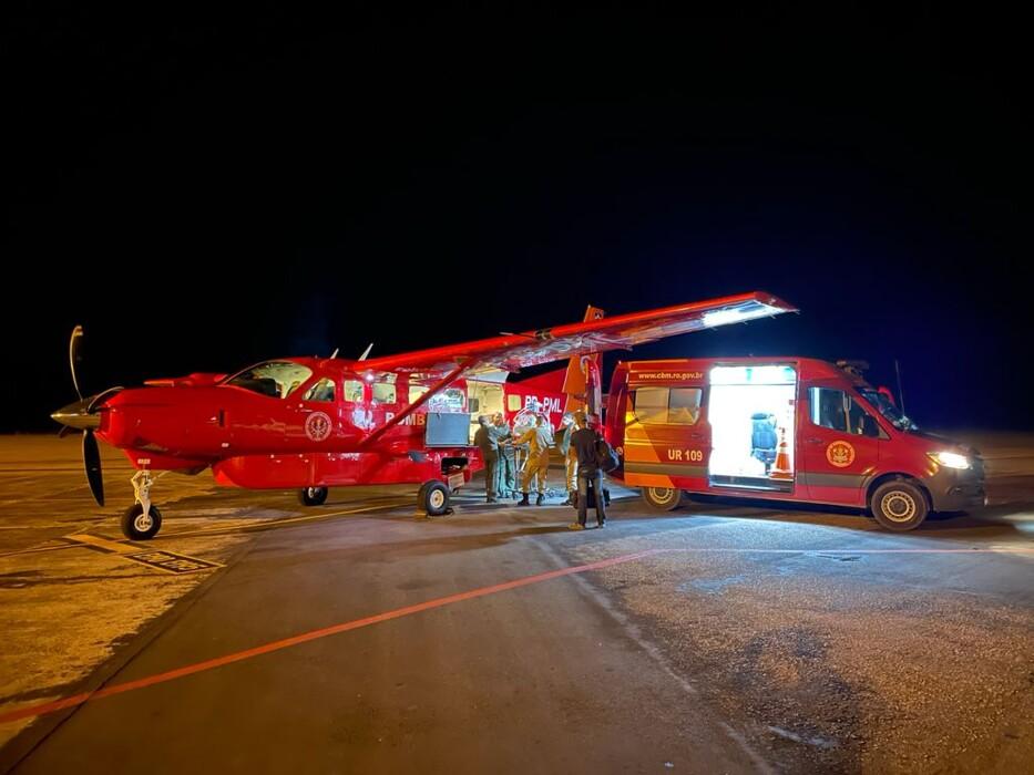 Grupo de Operações Aéreas transfere bebê prematuro de Vilhena para Porto Velho