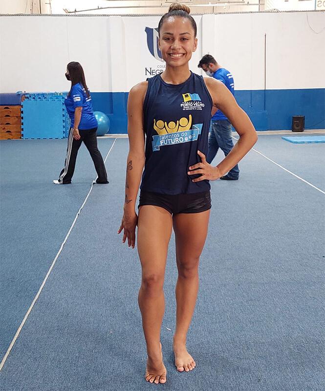 Atleta Duda Tavares inicia treinamento em Aracaju para disputas no Torneio Nacional de Ginástica Aeróbica