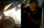Vídeo: motorista bêbado dirigindo veículo oficial se envolve em colisão frontal com ônibus
