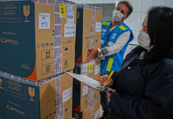 Rondônia recebe lote com mais de 140 mil vacinas e contabiliza mais de 2,6 milhões de imunizantes contra covid-19