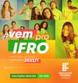 IFRO inicia seleção para 3,3 mil vagas no primeiro semestre de 2.022