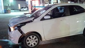 Mulher fica ferida em acidente na região central da capital